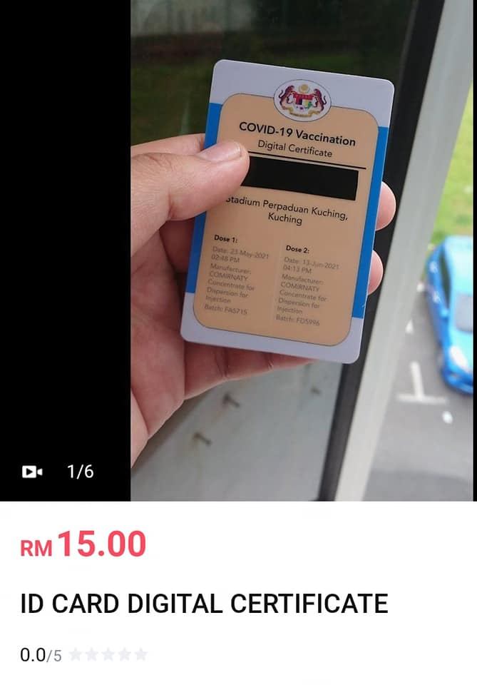The badge is going for as low as RM15.